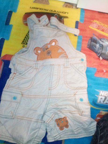 Ubranka dla dziecka 80/86 spodnie body ogrodniczki