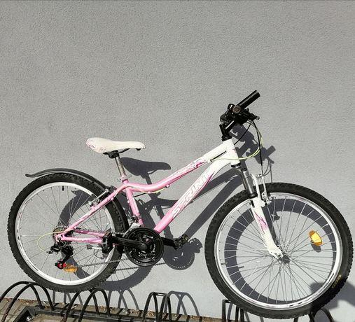 """Rower dziewczęcy Sprint górski 24"""" po serwisie"""