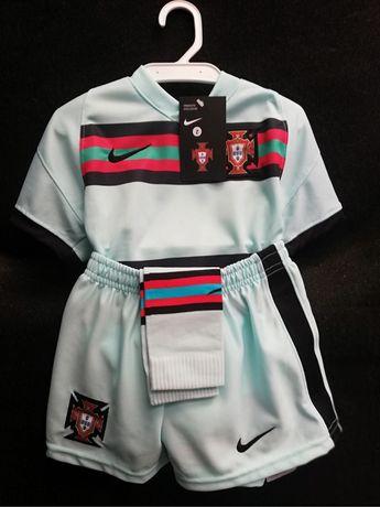 Equipamento criança Seleção Nacional. Euro 2020. Portugal