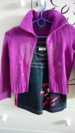 sweterek na suwak firmy benetton rozmiar S, który oceniam na 134
