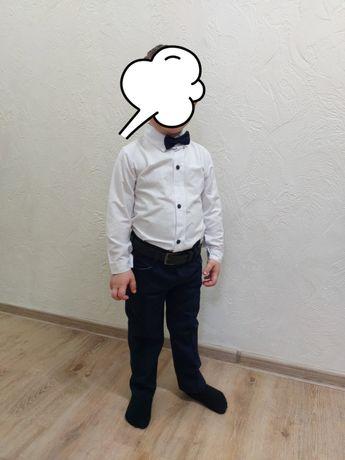 Праздничный детский костюм на мальчика 3-4 г (рубашка, брюки, пиджак)