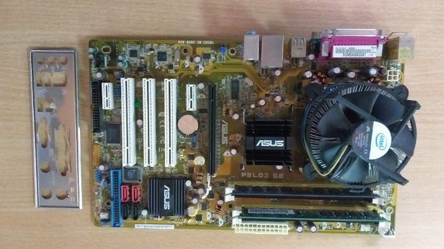 Матер плата s775 ASUS p5LD2 SE с 2-х яд проц intel E2140, 4 Гб DDR2/
