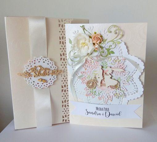 Kartka ślubna z kopertą 3D