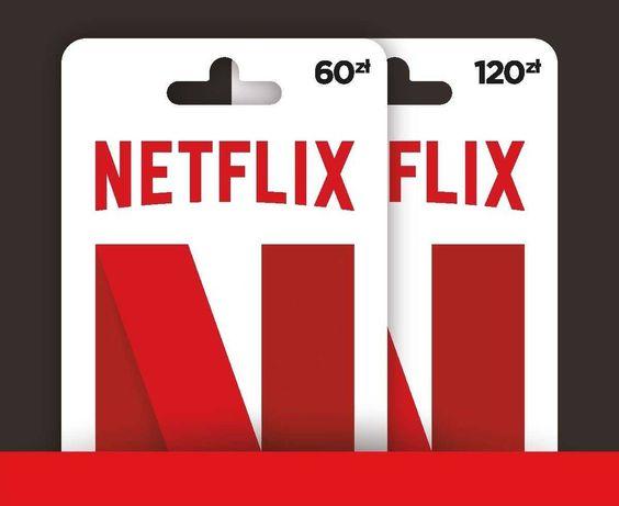 Karta podarunkowa Netflix, kod Netflix 1 /2/3 Miesiące