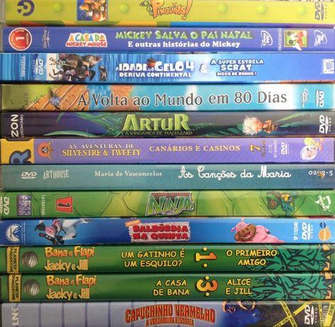 30 DVDs - ANIMAÇÃO - Raros - Como Novos