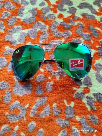 Новые мужские очки с зелёным оттенком