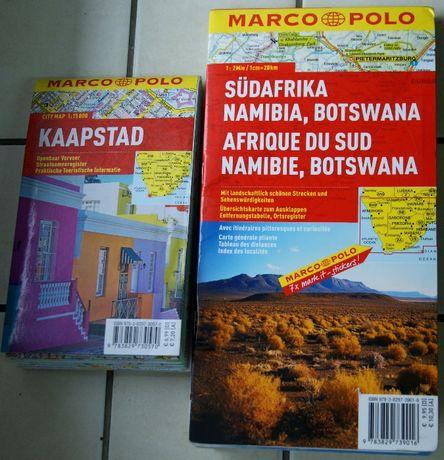 Mapa Afryki Południowej(RPA,Namibia,Botswana,Zimbwawe) oraz Kapsztad