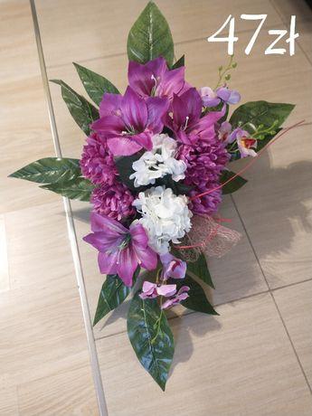 Stroik na cmentarz kompozycja kwiatowa na grób ikebana