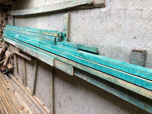 Deski łaty na dach 7x3,2 cm zaprawione nowe nieużywane
