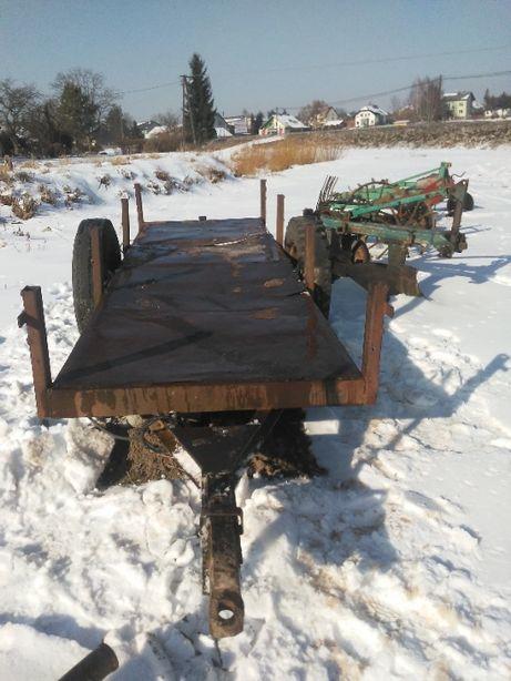 Przyczepa jednoosiowa do ciągnika