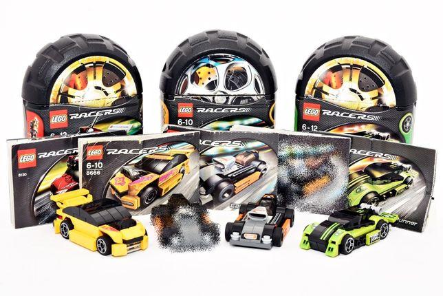 Zestaw LEGO 8661 & 8666 & 8130 & 8133 Wyścigówka Auto Racers Klocki
