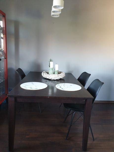 Sprzedam stół drewniany prostokątny ciemny brąz