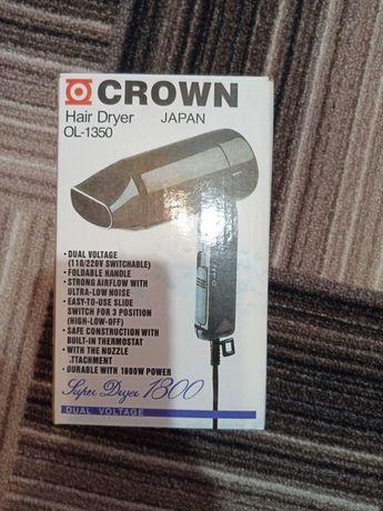 Фен дорожный crown 1800