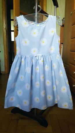 Милое платье бренда H&M на 7-8 лет