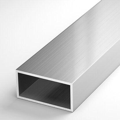 Труба алюминиевая 40х20х2 прямоугольная АД31, без покрытия, L=7000