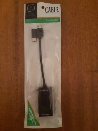 Cabo conversor MHL Micro USB para HDMI, tablet e smartphone (Novo)