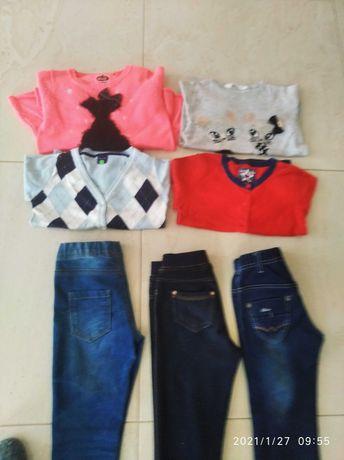 Legginsy ocieplane, rurki, sweterki bluzy H&M , Cool club- zestaw