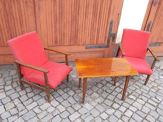 Fotele plus stolik z prl. Głuchołazy - image 1