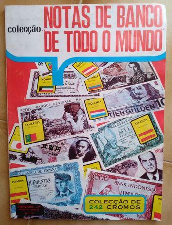 """Caderneta completa """"Notas De Banco De Todo O Mundo"""""""