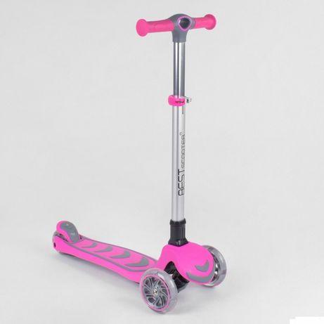 Продам стильный трехколесный самокат Best Scooter, светящиеся колёса 1