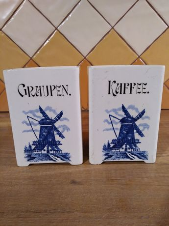 Pojemniki ceramiczne, porcelanowe- holenderskie