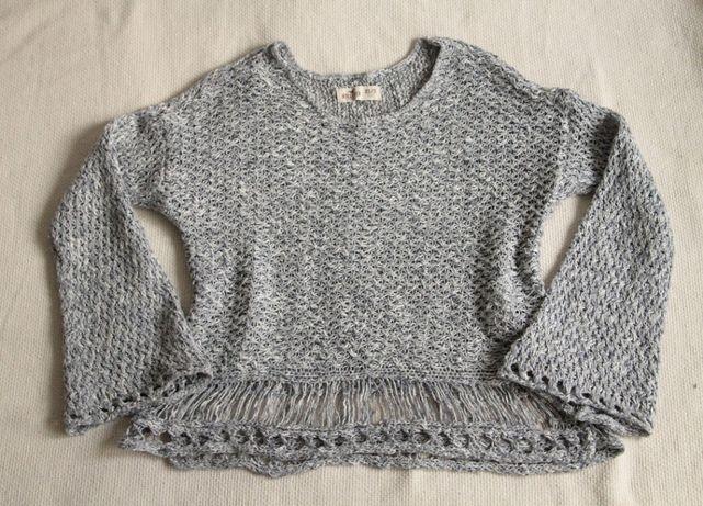 Lekki sweterek Hollister XS/S kolor gołębi