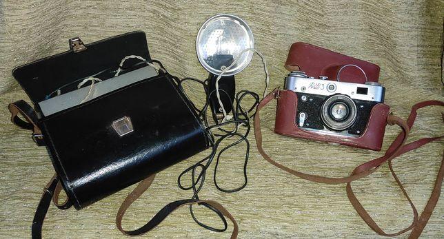 Фотоаппарат FED 3 и вспышка