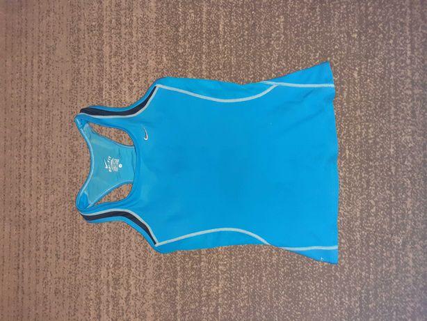 Nike Dri-Fit r.M niebieska koszulka fitness damska