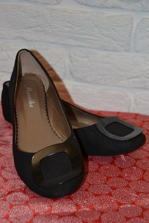 Балетки черные, туфли