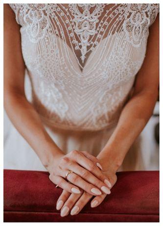 Suknia ślubna Monica Loretti cappuccino/ivory r. 34/36