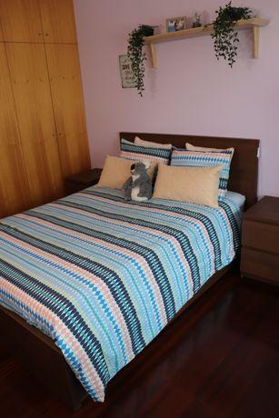 Cama casal Malm + cómodas + colchão ( 140x200) IKEA