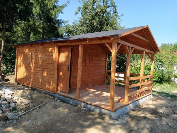 Domek drewniany 4x7 letniskowy na działkę do ogrodu szybka realizacja