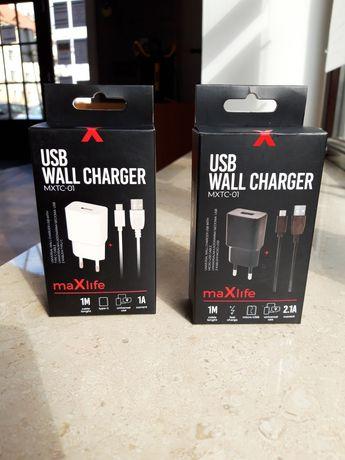 Ładowarka 1a 2a 2,1a fast charging micro usb-c lighting komplet SERWIS