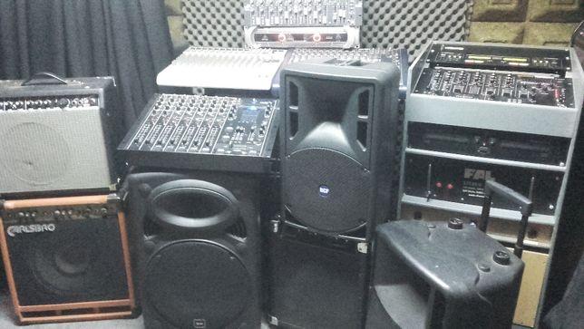 Sprzet muzyczny,końcówka,mixer,dual cd,kolumny aktywne różne