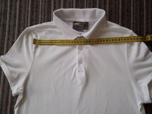 Поло, белая мужская футболка asos