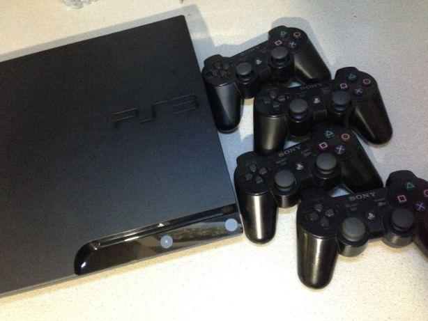Sony Platation 3 Slim 320Gb прошита 4 джойстика
