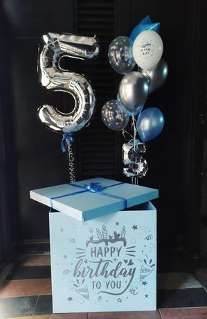 Коробка сюрприз під замовлення. Повітряні кульки.
