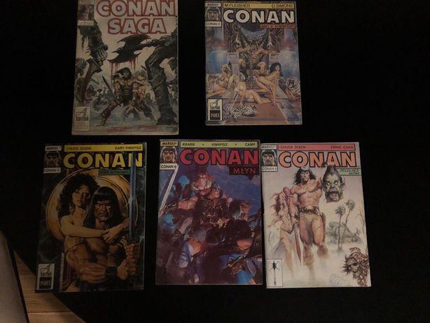 Conan 1-5 komiksy z 1990 unikat bialy kruk