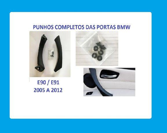 Punhos das Portas Completos BMW E 90/ E91 - Preto e Beije