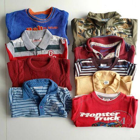 Zestaw, paka Bluzki, bluza, sweter, koszulki roz. 92