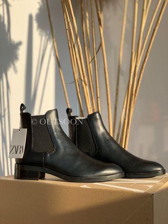 Челси кожа Zara, ботинки Зара