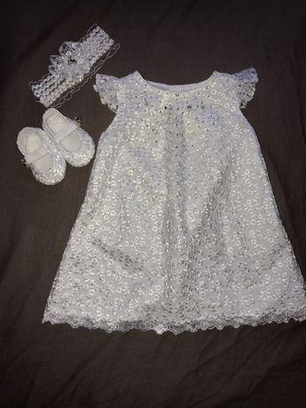 Платье комплект для девочки на выписку крестины праздник