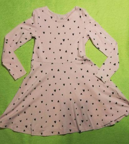 H&M Trzy sukienki 122 cm