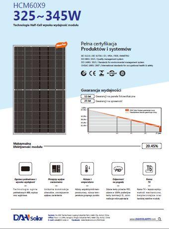 Panele Słoneczne Fotowoltaiczne Fotowoltaika 340W (Z montażem lub BEZ)