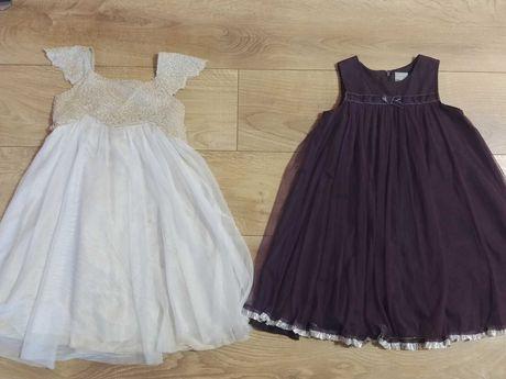 Jak nowa bardzo elegancka wizytowa sukienka dla dziewczynki 104