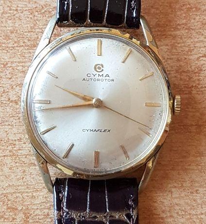 Stary szwajcarski zegarek Cyma Autorotor Cymaflex