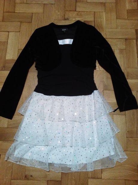 sukienka z narzutką (2 w jednym) mieniąca się na 14 lat