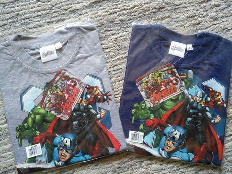 NOWE koszulki AVENGERS MARVEL krótki rękaw dla chłopca od 98 do 128