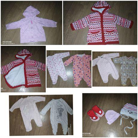 Продам вещи на девочку 0-3 и 3-6 месяцев в отличном состоянии