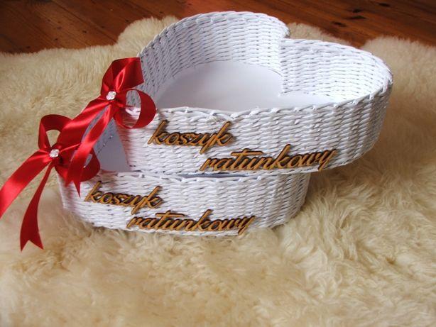 Niepowtarzalny koszyk ratunkowy w kształcie serca.Ślub/wesele